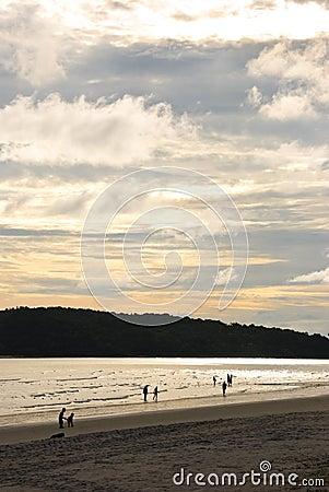 Playa de la puesta del sol