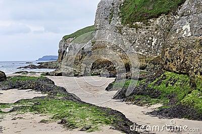Playa de la roca blanca, Portrush, Irlanda del Norte