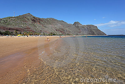 Playa de Las Teresitas, Tenerife Redaktionelles Stockfotografie