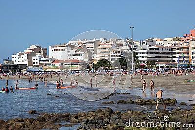Playa de Los Cristianos, Tenerife Editorial Photo