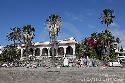 Playa de los Cristianos, Tenerife Editorial Stock Photo