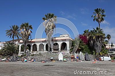 Playa de los Cristianos, Tenerife Editorial Stock Photo