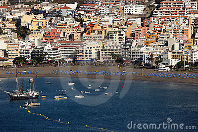 Playa de los Cristianos, Tenerife Editorial Photography