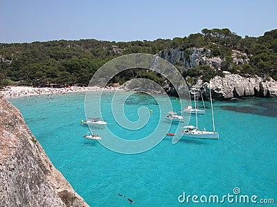 Playa de Macarella en Menorca (España)
