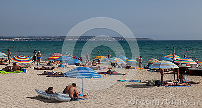 Playa De Palma Zdjęcie Editorial