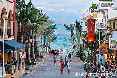 Playa del Carmem Beach Yucatan Mexico Editorial Stock Image