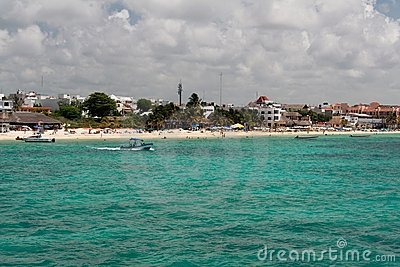 Playa del Carmem Beach Yucatan Mexico