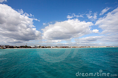 Playa del Carmen coastline
