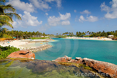 Playa en la isla del paraíso