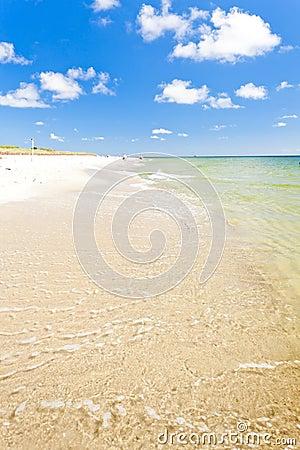 Playa en la península de los Hel