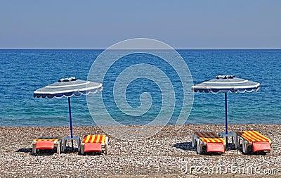 Playa griega de la ripia