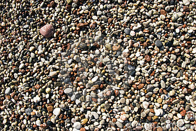 Playa mojada de los guijarros