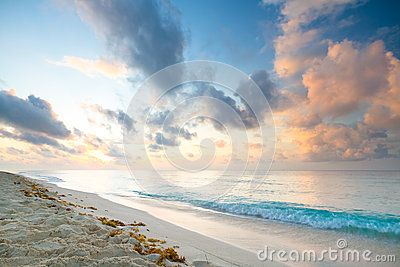 Playacar beach at sunrise