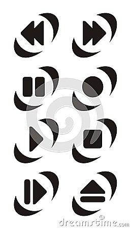 Free Player Button Symbols Stock Photos - 772923