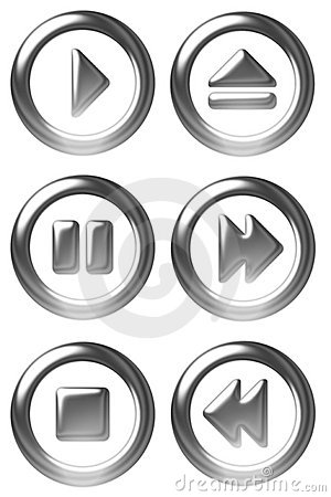 Free Player Button Symbols Royalty Free Stock Images - 777029