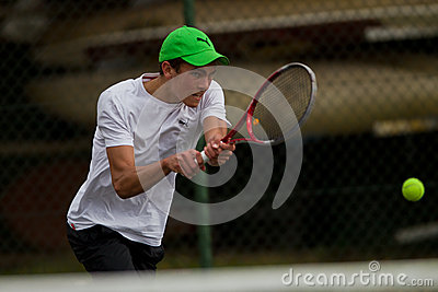 Player Focus Tennis Teenager Editorial Stock Photo