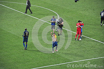 Player of the France team welcomes fans Editorial Photography