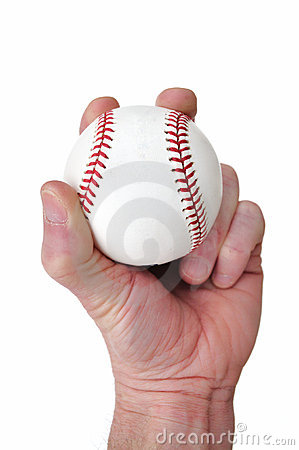 Player Gripping a New Baseball