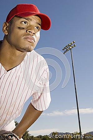 Player Playing Baseball