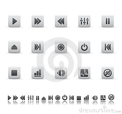 Player and sound icons
