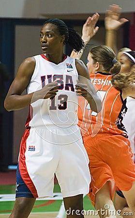 Player team USA basketball Silvia Fowles Editorial Image