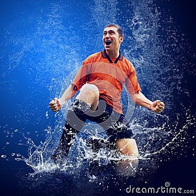 Player under water