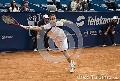 Player Volandri run for a ball Editorial Photo
