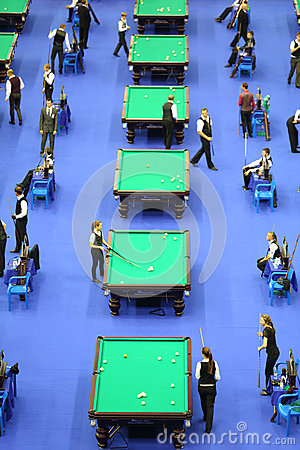 Players compete in pool Editorial Photo