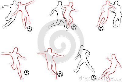 Players football set
