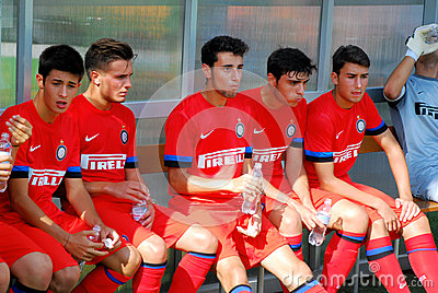 Players of Inter Milan on rest Editorial Photo