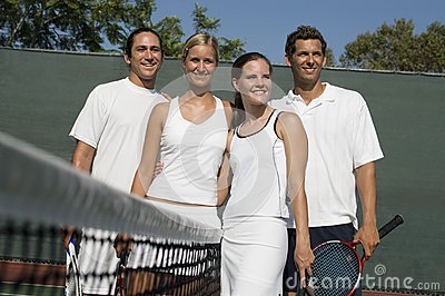 Players At Tennis Court