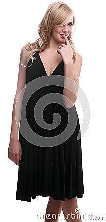 Playful blonde model