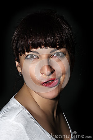 Free Playful Caucasian Woman Making A Funny Face Royalty Free Stock Image - 35344886