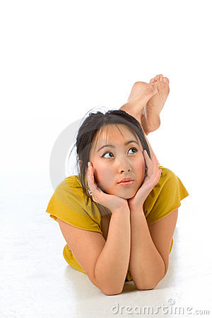 Playful Chinese female