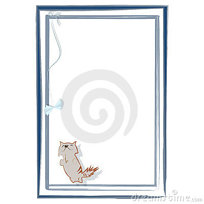 Playful kitten in frame
