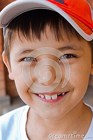 Playful, laughing boy