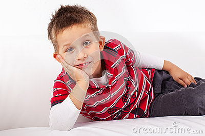 Playful little boy