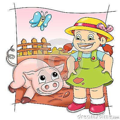 Playful pig