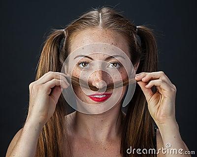 Playful Redhead