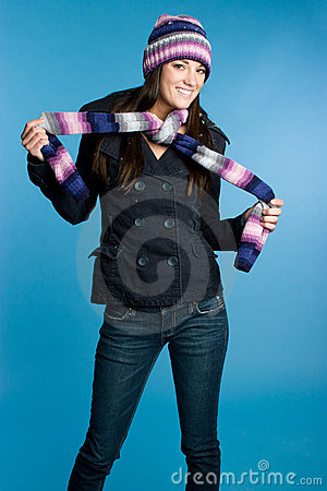 Playful Scarf Girl