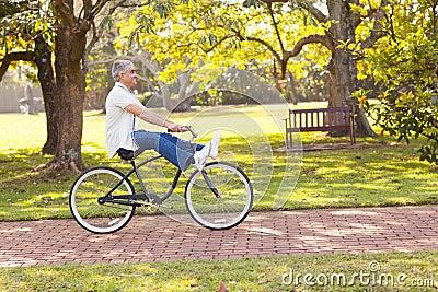 Playful senior bicycle