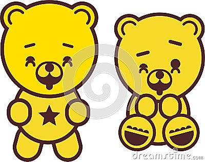 Playful teddy bear