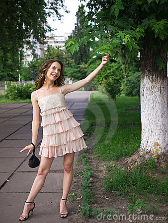 Free Playfully Girl Teenager Outdoor. Royalty Free Stock Image - 6239286