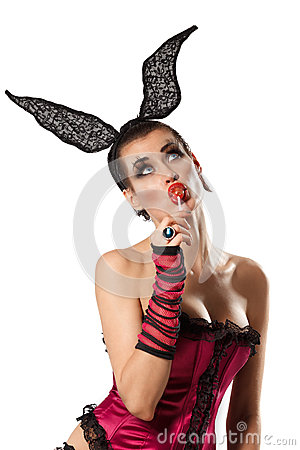 Playgirl With A Candy Stock Photography - Image: 29437882