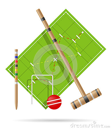 Free Playground For Croquet Vector Illustration Royalty Free Stock Images - 81151479