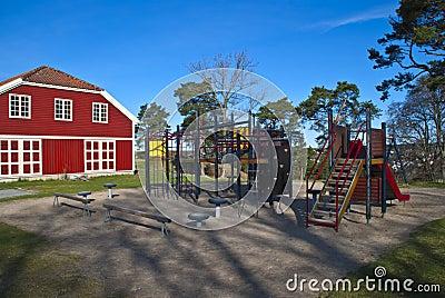 Playground on fredriksten