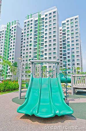 Playground within high-rise residential estate