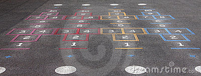 Playground hopscotch