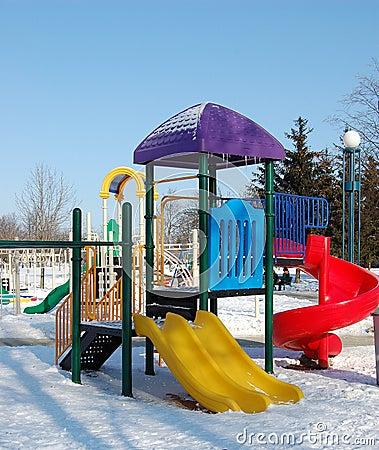Free Playground In Winter Stock Photo - 8218340