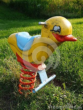 Playground: kids ride chick